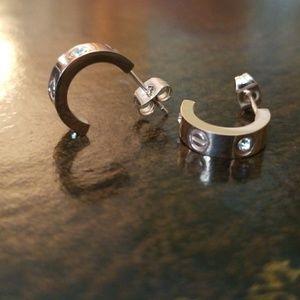 Beautiful semi circle rose gold earrings